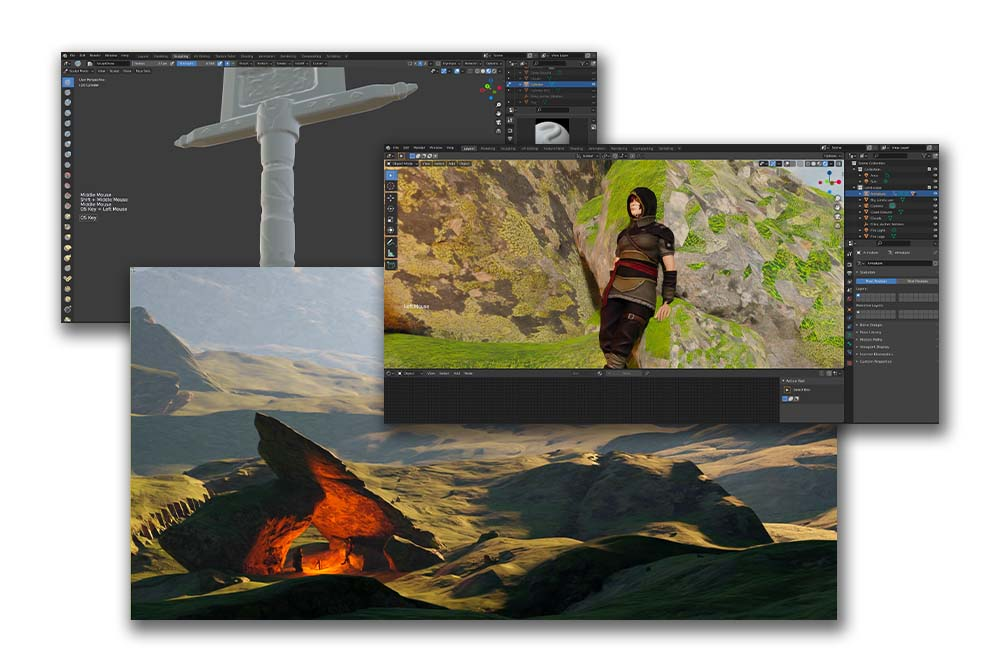 3D for Artists by Walid Feghali. Module 3: Epic Landscape Creation